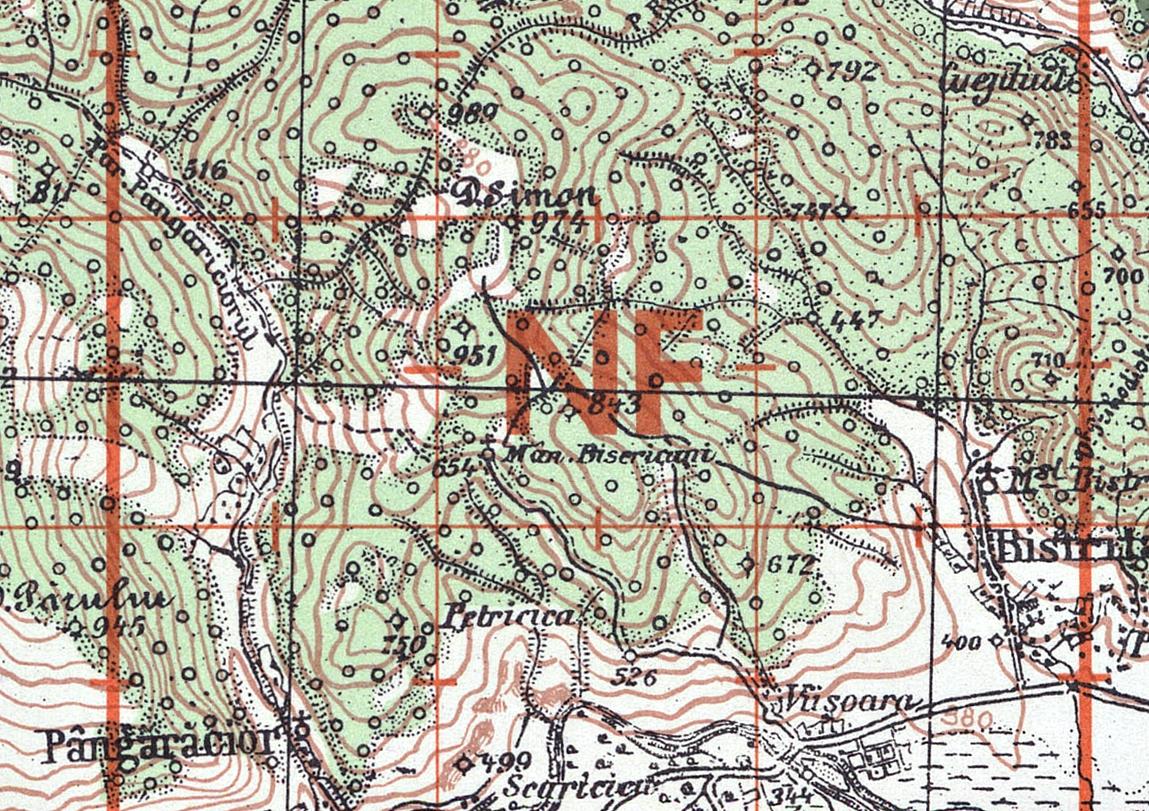 Extras din Harta militara Austro-Ungara 1934